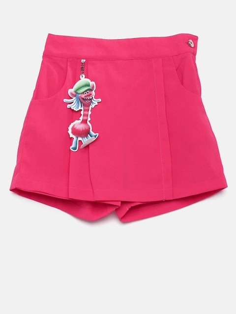 Peppermint Girls Pink Skort  available at myntra for Rs.359