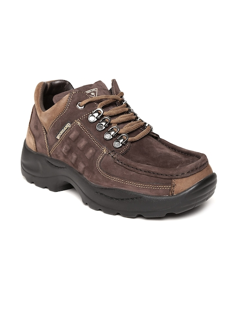 Woodland Proplanet Men Brown Leather Outdoor Shoes