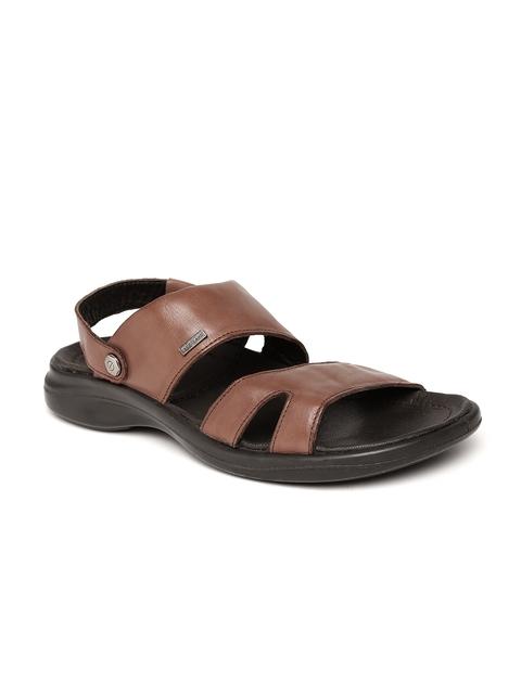 Woodland Men Brown Leather Sandals