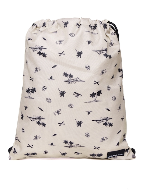 Adidas NEO Men Beige & Black DAILY 2 Printed Backpack  available at myntra for Rs.769