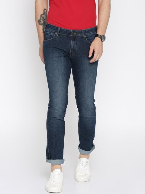 Wrangler Men Blue Skanders Slim Jeans