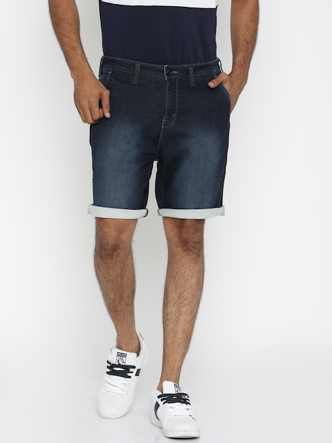 Wrangler Men Blue Regular Fit Denim Shorts