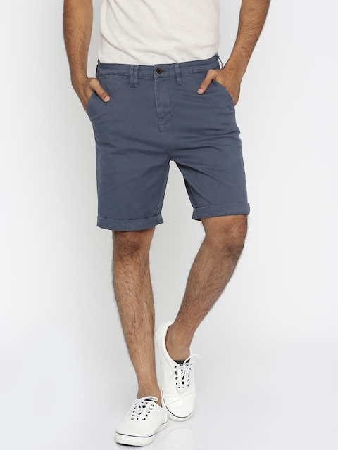 Wrangler Blue Regular Fit Chino Shorts