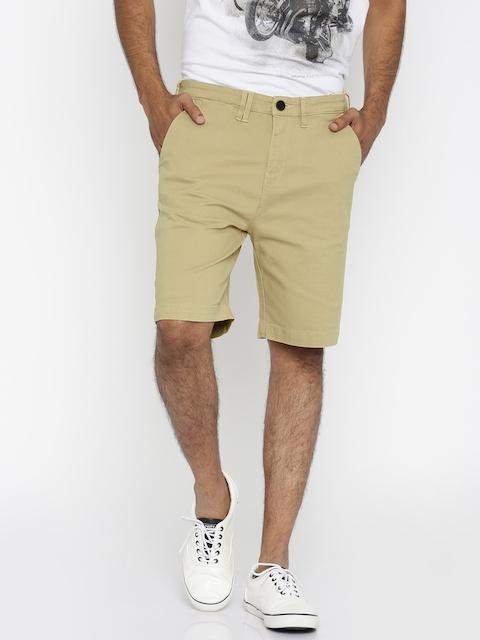 Wrangler Khaki Regular Fit Chino Shorts