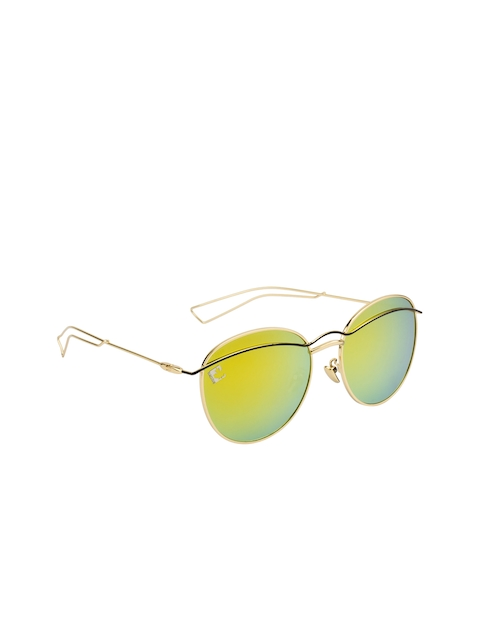 Clark N Palmer Women Mirrored Oversized Sunglasses
