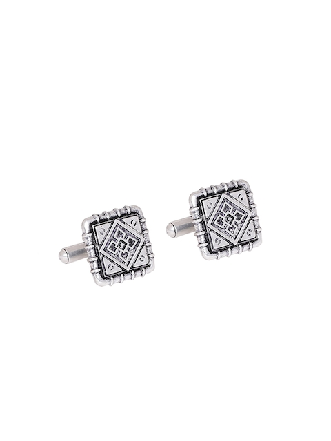 Dare By Voylla Silver-Toned Cufflinks  available at myntra for Rs.347