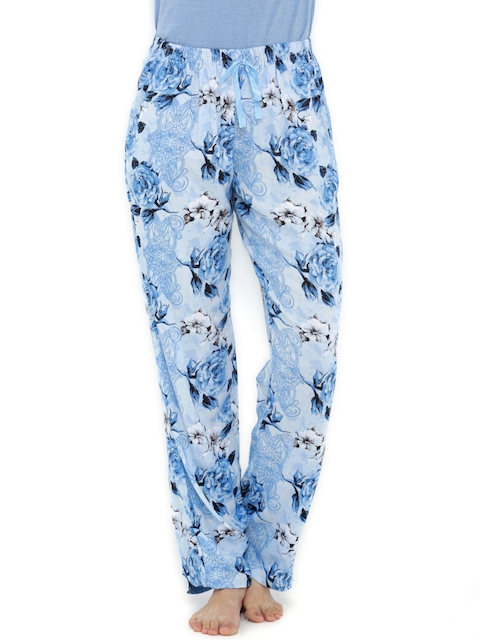 Heart 2 Heart Blue Printed Lounge Pants LP70DREMBL