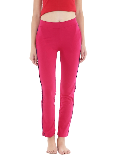 Floret Pink Slim Fit Lounge Pants P-20015