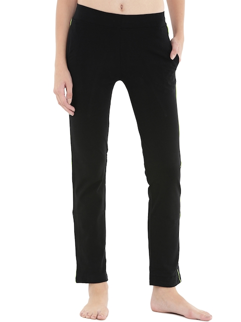 Floret Black Slim Fit Lounge Pants P-20015