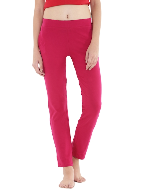Floret Pink Slim Fit Lounge Pants P-20002