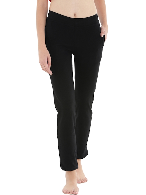 Floret Black Slim Fit Lounge Pants P-20002