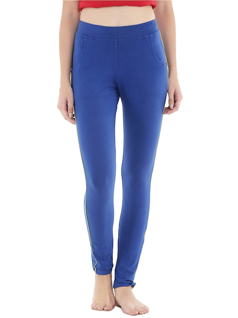Floret Blue Slim Fit Lounge Pants P-20024