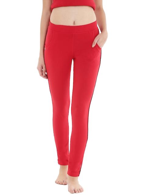 Floret Red Slim Fit Lounge Pants P-20024