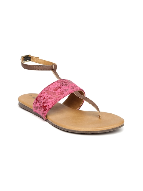 Lavie Women Pink T-Strap Flats