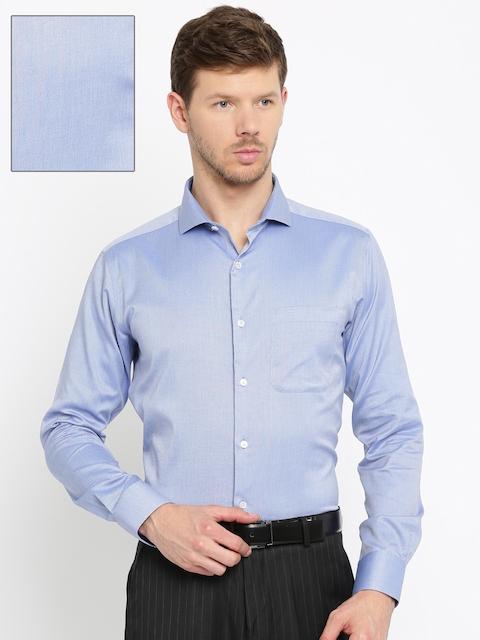 Raymond Men Blue Slim Fit Solid Formal Shirt