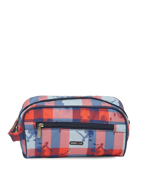 Bags.R.us Unisex Navy Blue Printed Travel Pouch