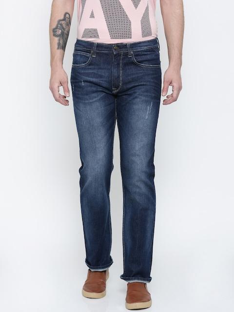 Lee Men Blue Rodeo Regular Fit Low Distress Stretchable Jeans