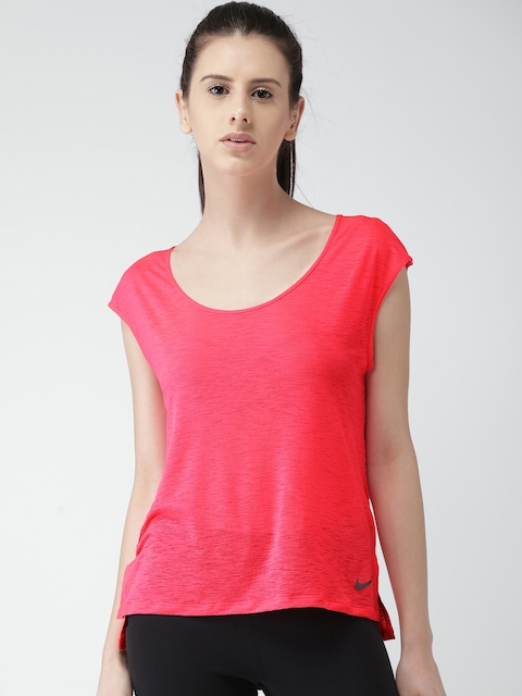 Nike A W NK Women Pink Solid Top