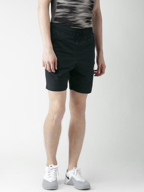 Nike Men Black Solid Slim Fit AS M NSW AV15 Sports Shorts