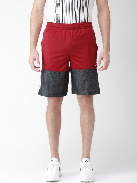 Nike Men Red AS Classic AJ Blockout Printed Sports Shorts  available at myntra for Rs.628