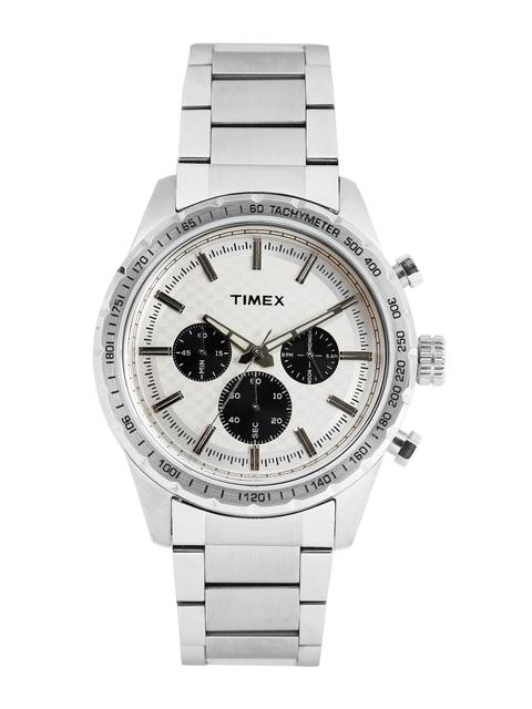 Timex Men Silver-Toned Chronograph Analogue Watch TWEG15607