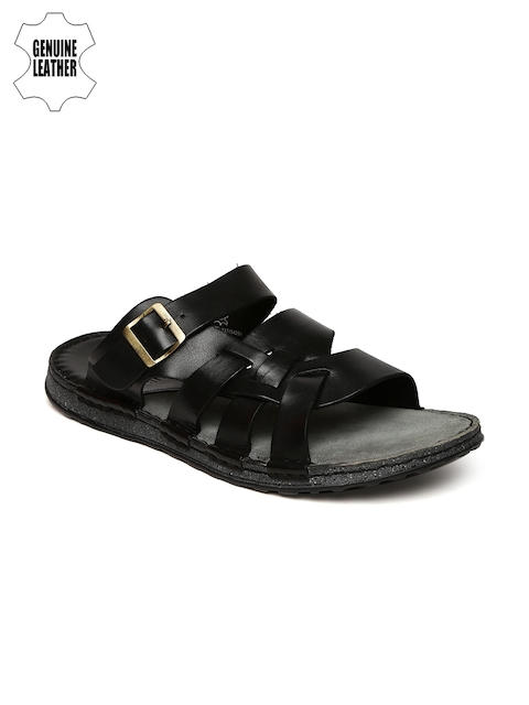 Ruosh Smart Casual Men Black Sandals