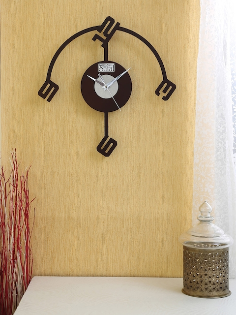 Safal Brown Dial Wooden 35 cm x 35 cm Analogue Wall Clock