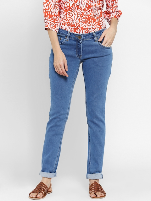Park Avenue Woman Blue Skinny Fit Stretchable Jeans