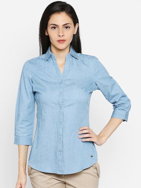 Park Avenue Woman Blue Shirt