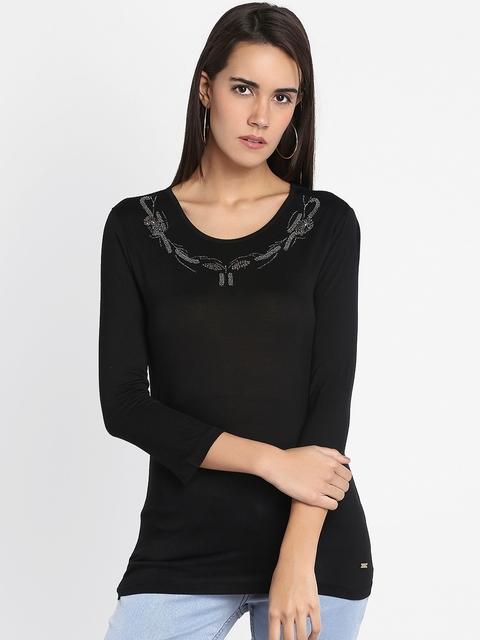Park Avenue Woman Black Solid Top
