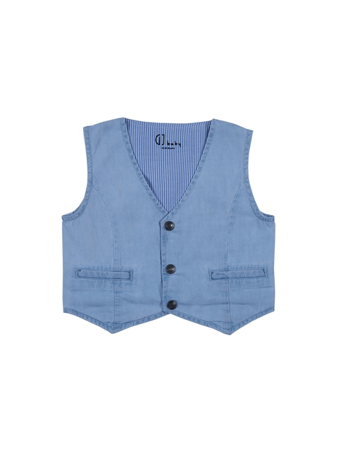 Gini and Jony Boys Blue Denim Waistcoat