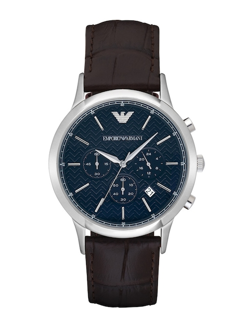 Emporio Armani Men Teal Blue Chronograph Analogue Watch AR2494I