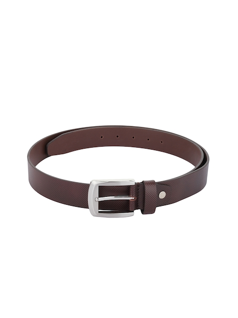 Alvaro Castagnino Men Brown Textured Leather Belt