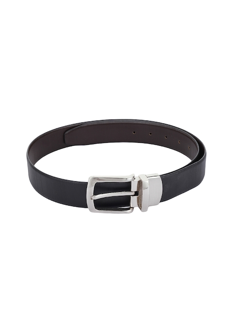 Alvaro Castagnino Men Black & Brown Leather Reversible Belt