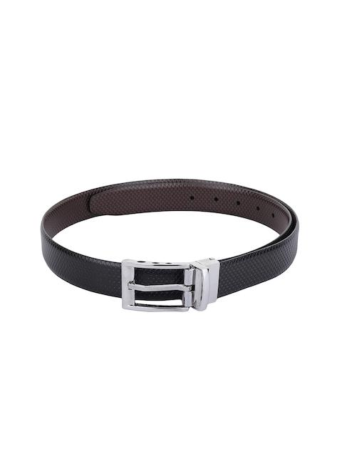 Alvaro Castagnino Men Black & Brown Reversible Leather Belt