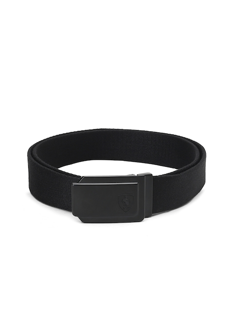 Puma Men Black Ferrari Fanwear Solid Belt