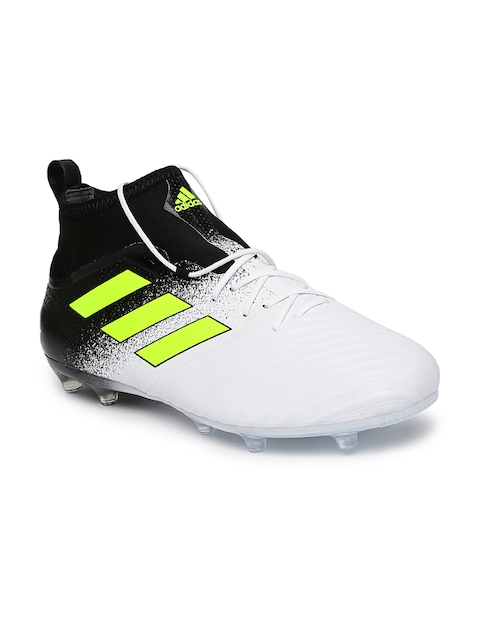 9c6740e2175 ADIDAS Men White   Black Ace 17.2 FG Football Shoes