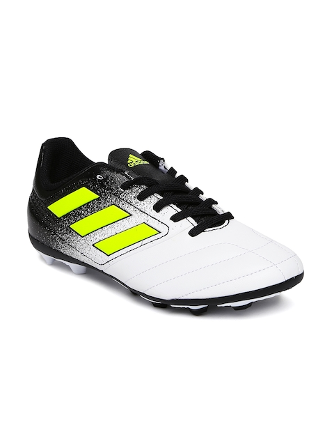 ADIDAS Men White & Black Football Shoes
