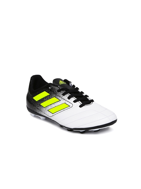 Adidas Boys White ACE 17.4 FXG J Football Shoes
