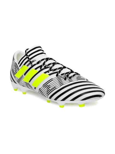 Adidas Men White \u0026 Black Football Shoes