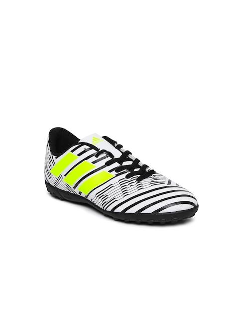 Adidas Boys White NEMEZIZ 17.4 TF J Football Shoes