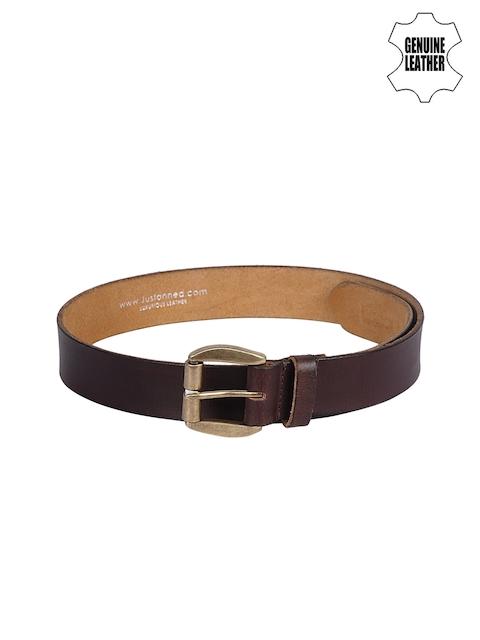 Justanned Men Brown Genuine Leather Belt