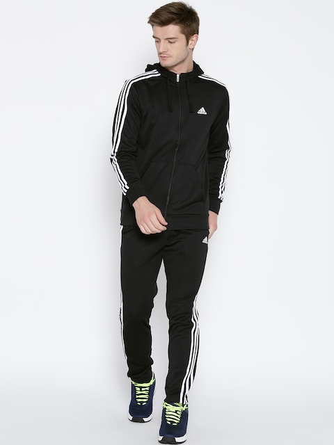 ADIDAS Black New PES HOJO Hooded Track Suit