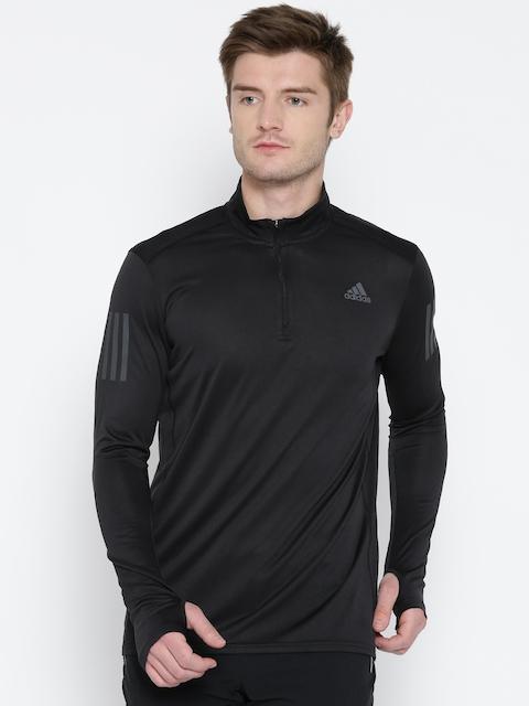 Adidas Men Black RS ZIP Solid Sweatshirt