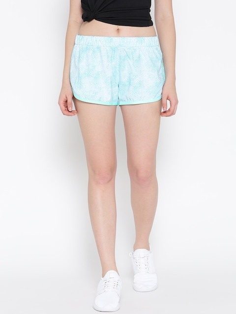 Adidas NEO Women Blue SD AOP Printed Sports Shorts
