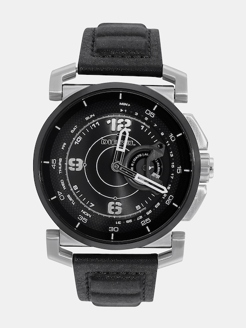 DIESEL Men Black Analogue Hybrid Watch DZT1000