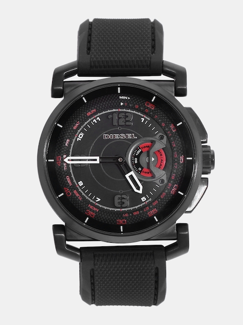 DIESEL Men Black Analogue Hybrid Watch DZT1006