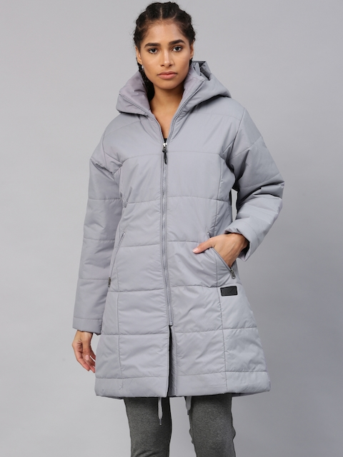 HRX by Hrithik Roshan Women Grey Solid Padded Jacket