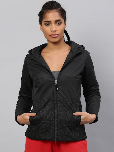 HRX by Hrithik Roshan Women Black Solid Puffer Jacket