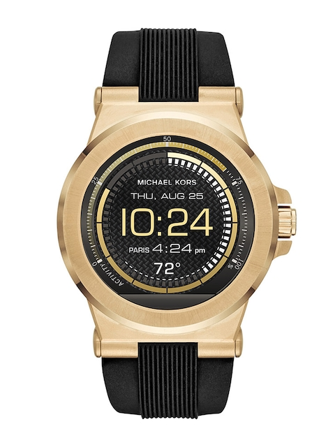 Michael Kors Men Black Access Dylan Silicone Smartwatch MKT5009